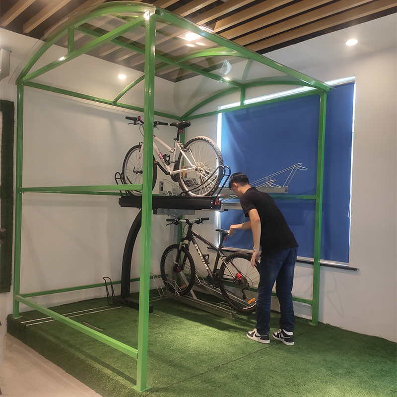 2-Tier bike parking rack and shelter