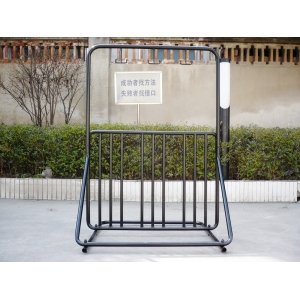 innovative loading 6-bikes and 3-helmet hooks outdoor bike rack