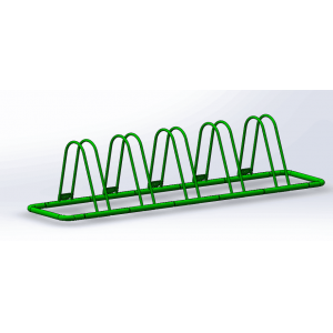 2016 New Arrival Triangle Powder Coated Bike Rack For 5 Bikes