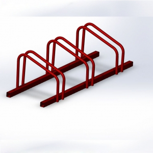 Assembly powder coated bike racks