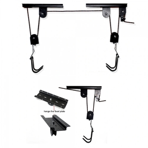 Black Creative Bicycle Storage Adjustable Heavy Duty Vertical Bike Lift