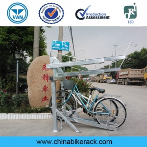 China Supplier Double Stack Bike Rack / Two Tiers Bicycle Rack