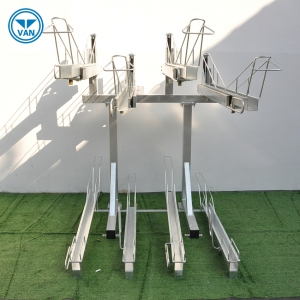 Customized Durable Two Tier Bicycle Parking Rack/Double Decker Bike Stand