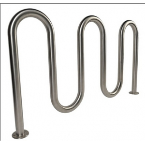 Durable Outdoor Stainless Steel Wave Bicycle Rack