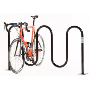 Galvanised wave shape bicycle rack