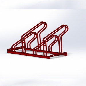 Outdoor floor mounted bicycle parking rack