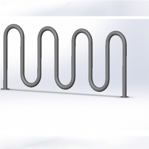 Outside Using Powder Coated Wave Bike Rack