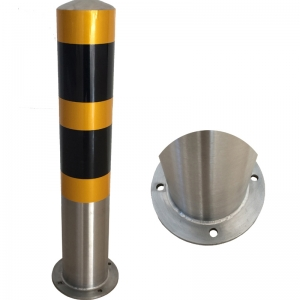Pioneer Fixed Street Safety Bollard with Signs on The Top Mooring Bollard
