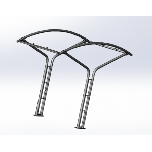 Powder coated bike rack bike metal shelf rack