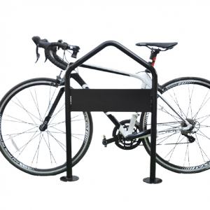 Single Two-Sided Floor Type Bike Rack Outdoor Metal Bicycle Parking System