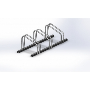 Square Powder Coated Bike Rack For 3 Bikes
