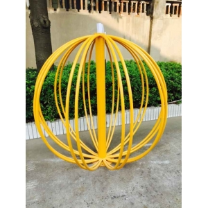 circle powder coated bike racks
