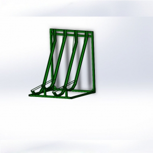 galvanized semi bicycle rack can OEM