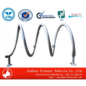 spiral bike rack china bicycle parking stand factory