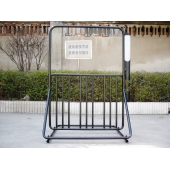 China 2015 innovative loading 6-bikes and 3-helmet hooks outdoor bike valet(ISO approved) factory