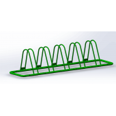 China 2016 New Arrival Triangle Powder Coated Bike Rack For 5 Bikes factory