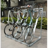 China China Semi Vertical Bicycle Parking Storage Rack factory