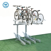 Chine Compact Two Tier Durable Bike Parking Rack usine