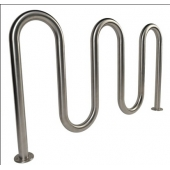 China Durable Outdoor Stainless Steel Wave Bicycle Rack factory