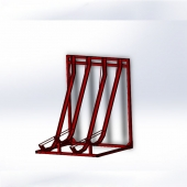 China Galvanized steel semi Vertical bike rack factory
