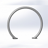 China Hoop bike rail / ring bike rail / circle bike rack factory