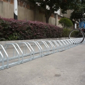 China Horizontal Double-Sided Street Floor Stand Simple Parking Stand Bicycle factory
