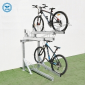 China Multi-Capacity Horizontal Two Tier Bike Parking Rack factory