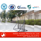 China Multipurpose Power Coated Standing Bike Rack factory