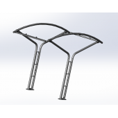 China Powder coated bike rack bike metal shelf rack factory