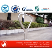 China Stainless Steel Triangle Shape Bike Parking Rack factory