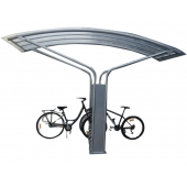 China Useful  Outdoor Bike Shelter with Bike Rack factory