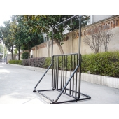 China Groothandel Carbon Steel Fence Bike Display Parking Stand met helm hanger, China Expert Parking Solutions, Bike Floor Stands leverancier fabriek