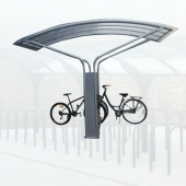China galvanized new style  bike shelter factory