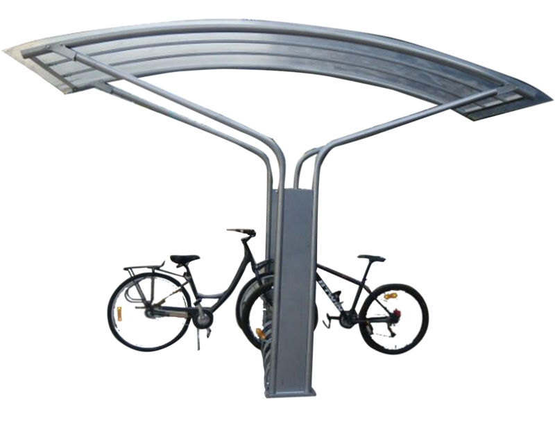 Useful outdoor bike shelter with bike rack Outdoor bicycle